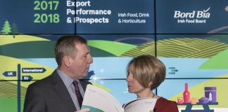 Pictured are Tara McCarthy, CEO of Bord Bia, and Minister for Agriculture, Food and the Marine, Mr. Michael Creed TD. Iain White - Fennell Photography. Fennell Photography 2018.