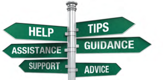 Guidance, support, advice, help, tips, assistane signs