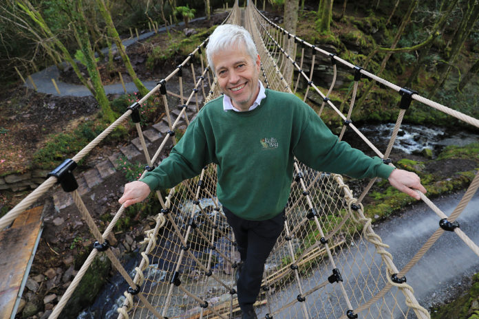 Skywalker… Billy Alexander, of Kells Bay House and Gardens on the 'The Skywalk' - Ireland's Longest Rope Bridge. The Rope Bridge officially opens on Saturday 8th April 2017, Kells Bay house and Gardens, is located on the Skellig Coast, and Wild Atlantic Way, Co.Kerry..Photo:Valerie O'Sullivan/FREE PIC***