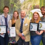 The 2017 Young Horticulturist of the Year. Contestants with QM Brian
