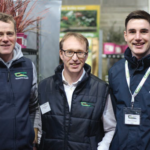 Fred Townsend, Dónall Flanagan, Conor Gallinagh (all from Teagasc) at the Trolley Fair in Kildalton College