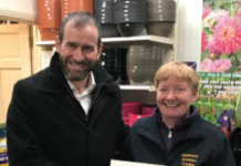 Pictured below was one of the lucky ra¸e winners for product vouchers, Rosaleen Hayden of Irishtown Garden Centre, Mountmellick.