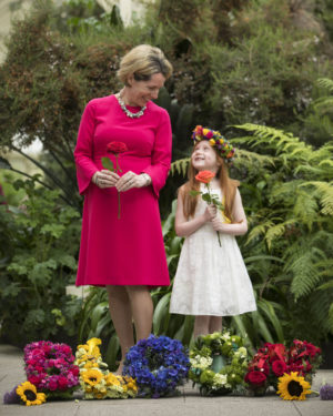 Pictured at the Botanic Gardens Glasnevin, for the launch of Bord Bia's Bloom were: Tara McCarthy, CEO Bord Bia and Skye Toal aged 5 from Finglas. Picture Chris Bellew / Fennell Photography 2018