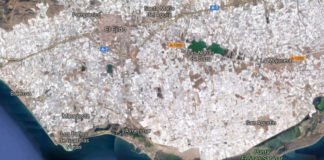 The photo is of the El Ejido region where the nursery was located. It is clearly a very intensive production area.