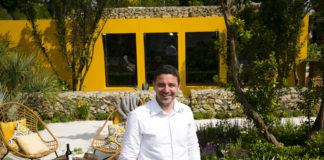 Designer Alan Rudden at the Life Is Rose Santa Rita Living La Vida 120 garden. Photo Johnny Bambury / Fennell Photography