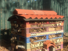 BUG HOTEL FOR GARDEN: DESIGNED AND BUILT BY ITB STUDENTS AND BLAKESTOWN DRIVE COMMUNITY GROUP (BDCG ) MEMBERS