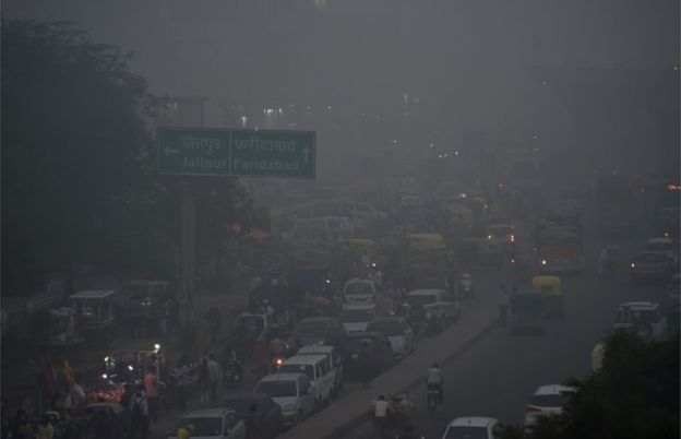 Air pollution in Delhi. Image copyright: AFP