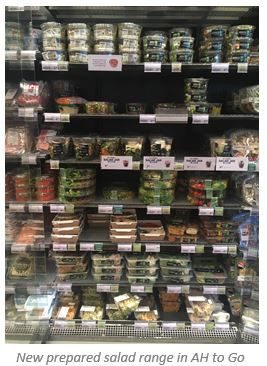 New prepared salad range in AH to GO