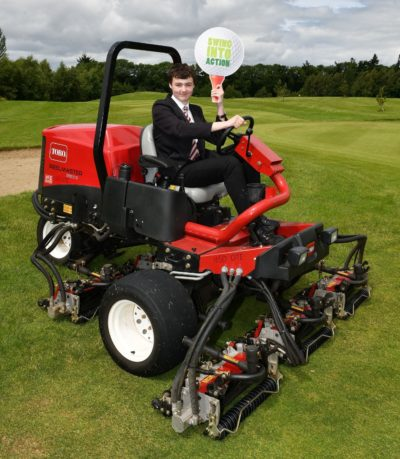 Trying out a fairway unit for size