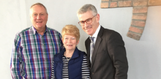Hamilton Loney and Barbara Erwin both vice-chairs of the N.I. Forum and Stiofán Nutty just before a meeting of the N.I. Horticulture forum in C & L mushrooms, Mayobridge, Co Down