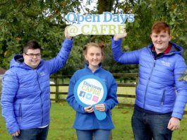 CAFRE students all set for Autumn Open Day