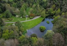 Aerial view of Lake JFK Arboretum