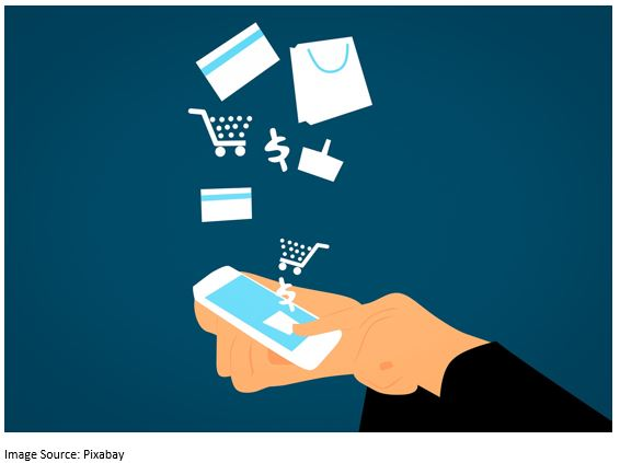 An illustration of shopping with a smartphone.