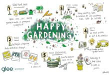 Happy gardening theme