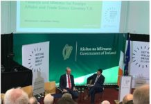 Tanaiste and Minister for Foreign Affairs Simon Coveney at the Getting Ireland Brexit Ready workshop, NUIG, Galway, 12th October.