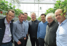 PICTURED AT THE SOFT FRUIT CONFERENCE IN TEAGASC ASHTOWN RECENTLY, L-R, EAMONN KEHOE, GARY MCCARTHY, MICHAEL GAFFNEY, LORCAN BOURKE, KEES VAN GIESSEN, JOHAN AELTERMAN, DERMOT CALLAGHAN