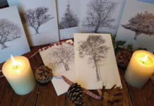 winter trees cards