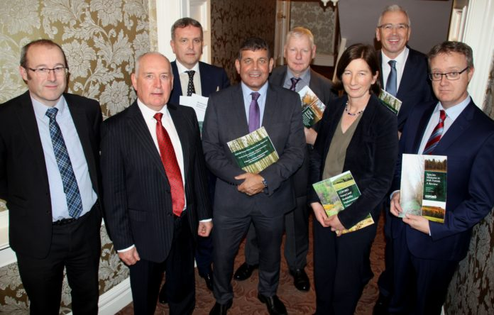Minister for State at the Department of Agriculture Food and the Marine with responsibility for Forestry, Andrew Doyle T.D, pictures with the COFORD Council, a stakeholder-led advisory body to the Department of Agriculture,Food and the Marine on matters related to forestry.