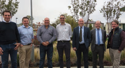 ABOVE: JONATHAN FROGETT, MICHAEL GAFFNEY, JON SWAIN, GER CROSSE, DERMOT CALLAGHAN, LEO FINN PICTURED AT THE TEAGASC/FEC/EBTECH/ WOODCO SEMINAR