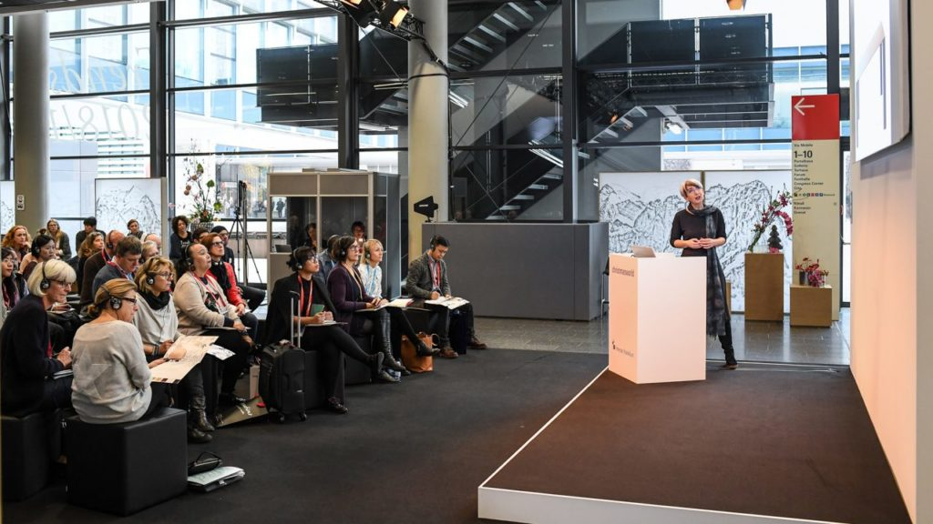 In specialist lectures and workshops, the Christmasworld Forum in the Foyer of Hall 11.0 will address current issues in the sector that concern retailers. Source: Messe Frankfurt Exhibition GmbH/Pietro Sutera.