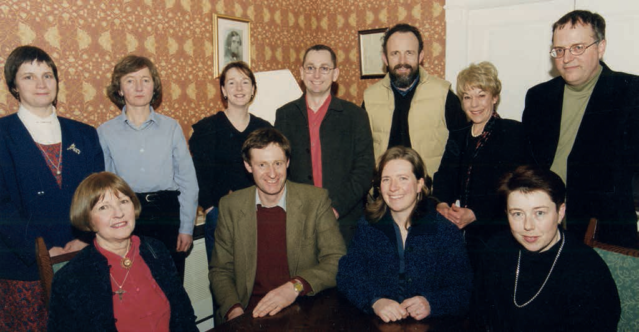 A group photos of some the GLDA's earliest full members. Back row from left, Gabrielle Sanio, Susan Maxwell, Louise Burns, Neville Mooney, Gerry Daly, Koraley Northen(administrator), Peter Stam, Angela Binchy, Andrew Glenn-Craigie, Lisa Murphy and Sally Kelly