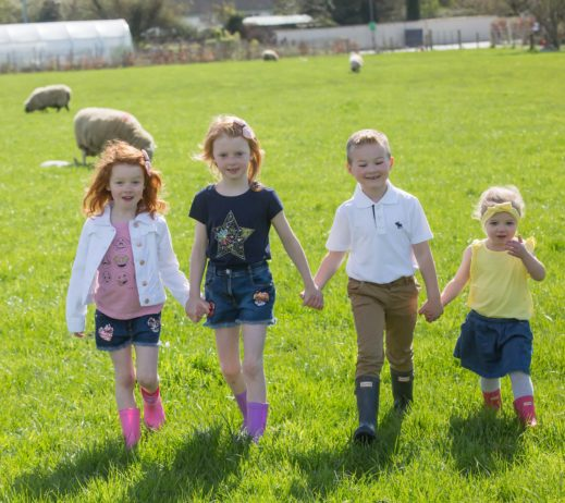 Elsie and Hannah Kelly and Cian and Caoimhe O'Shea at the launch of Agri Aware's National Open Farm Day 2019