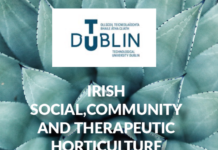 Irish social, community and therapeutic horticulture symposium banner