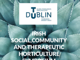 Irish social, community and therapeutic horticulture symposium banner