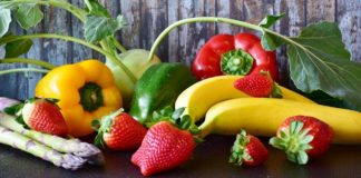 An image of fruits and vegetables