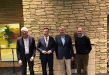 From left to right: Mr. Henk Raaijmakers, ENA Vice-president, Mr. David McAllister, MEP, Mr. Jan-Dieter Bruns, ENA President, and Mr. Willy De Nolf, ENA Treasurer.
