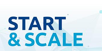 start & scale logo