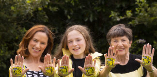 Take the Pledge! CountryLife wants the Irish public to take the Operation PolliNation pledge, help gardeners make their plots pollinator-friendly environments and show a little love for our native Irish bees. Pictured at the campaign launch were Naoise Coogan, her 12 year-old daughter, Siofra Coogan, and her mother, Therese O'Donovan. Picture: Patrick Browne