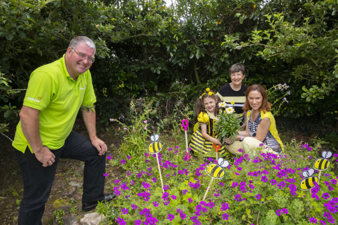 Take the Pledge! CountryLife wants the Irish public to take the Operation PolliNation pledge, help gardeners make their plots pollinator-friendly environments and show a little love for our native Irish bees. Pictured at the campaign launch were CountryLife Horticulturist, Malachy Doherty, along with Therese O'Donovan, her daughter, Naoise Coogan, and 8 year-old granddaughter, Fiadh Coogan. Picture: Patrick Browne